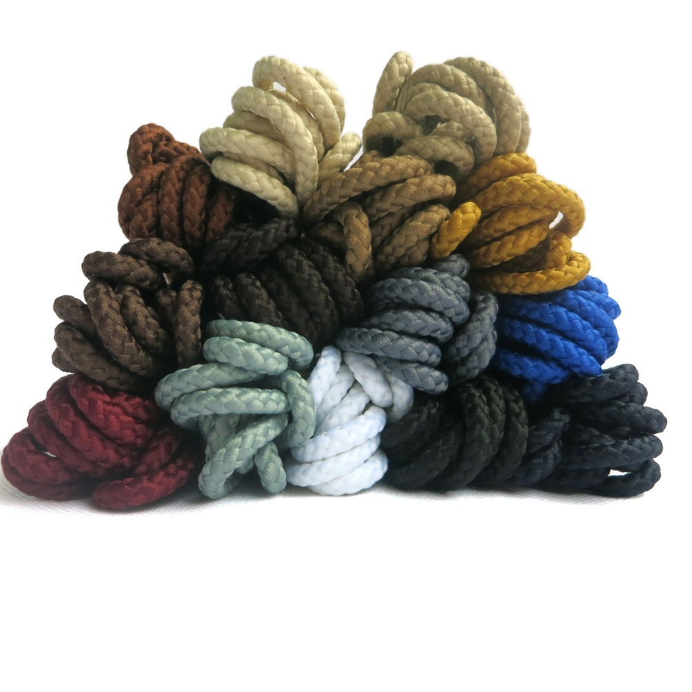 YJRVFINE [10Pair] 4/25Thick Twisted Texture Round Shoe Laces Heavy Duty and Durable Shoelaces for Boots&Work Boots&Casual Shoes