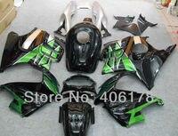 Ventas calientes, juego completo de carenados para honda cbr600 f3 1997 1998 verde multicolor motocicleta carenados (moldeo por inyección)