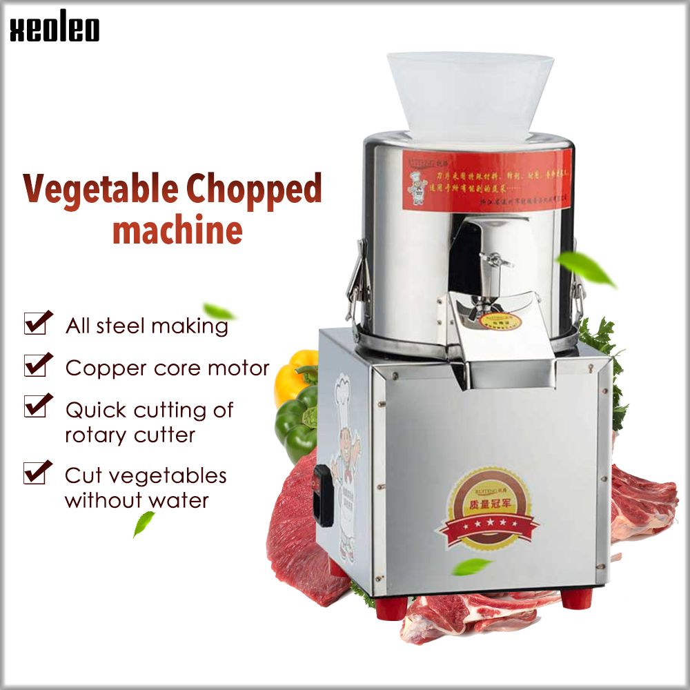 Xeoleo Vegetable Chopped Machine 60kg/h Vegetable Shredding Machine 180W Meat Grinder Garlic/shallot/ginger Grinding Machine