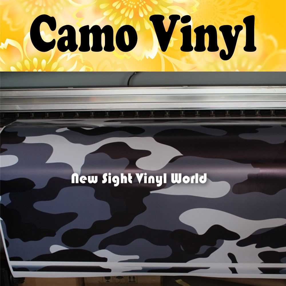Black Blue Camouflage Vinyl Wrap Roll Blue Camo Vinyl Sticker Bubble Free Car Wrapping Size:1.50*30m/Roll