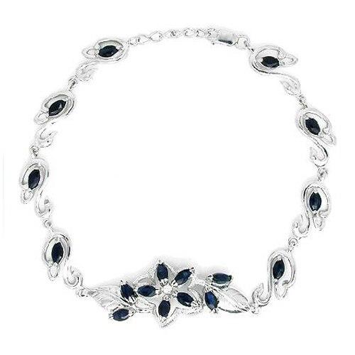 2017 реальные QI Xuan_Free почта темно синий каменный цветок Bracelets_S925 чистого серебра Bracelets_Manufacturer непосредственно продаж