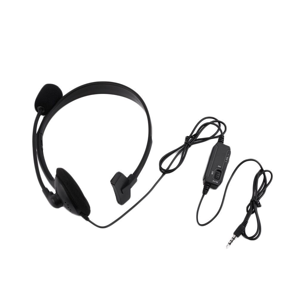 Black Wired Gaming Headset Game Headphone Microphone Headband with Mic Stereo Bass 3.5mm For PC Computer PlayStation 4 PS4 keenion kdm 311a 3 5mm wired stereo game headset w microphone black