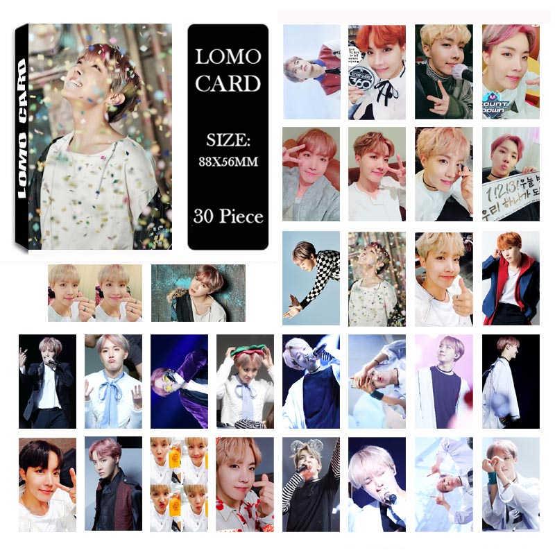 KPOP Bangtan альбом для мальчиков JHOPE J-HOPE LOMO карты k-pop Новая мода самодельная бумага фото карта HD Фотокарта
