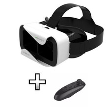 New VR Shinecon III 3.0 Mini Virtual Reality 3D Glasses Helmet BOX Game Video Headset For 4.7-6 inch Phone+Gamepad