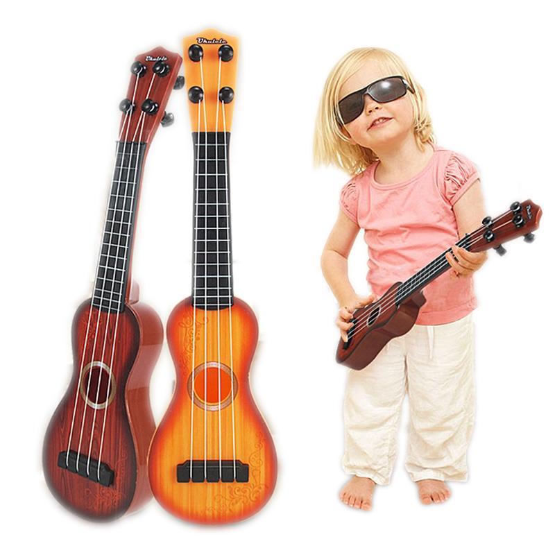 Bebé juguetes musicales divertidos simulación guitarra Juguete educativo para niños Infancia temprana Instrumentos musicales para niños mini Ukulele