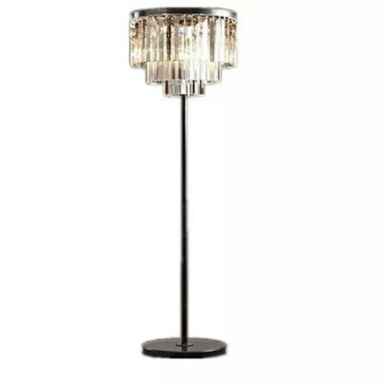 modern simple crystal desk lamp Nordic study bedroom living room bedside decorative crystal floor lamp