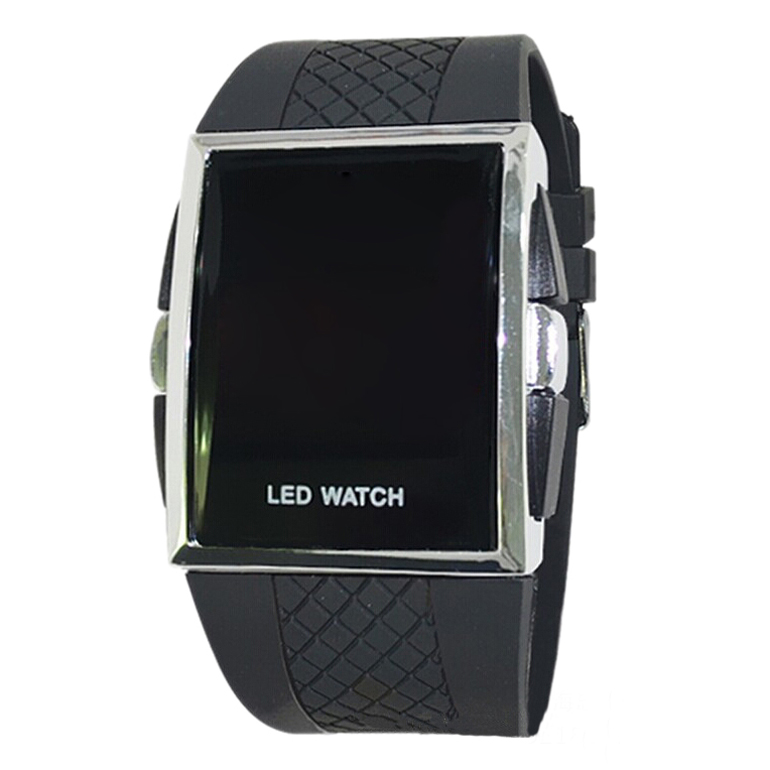 YCYS!new Led Digital Sport Strap Wristwatch For Ladies-All Black