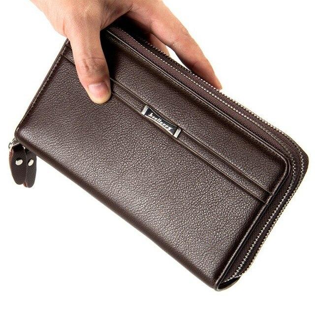 83873ee951ea3 Baellerry reißverschluss lange brieftasche herren geldbörse leder note  business männlichen clutch carteira phone organizer brieftasche boss