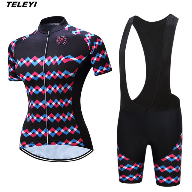 acde62e5a 2017 Black Summer Pro Cycling jersey Set Women Bike clothing clothes Girl  Ropa Ciclismo MTB bicycle jersey Top Bib Padded Short