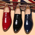Plus 38-48 Spring Autumn Men Shoes Pointed Toe Light Patent Leather Office Men Shoes Wedding Increase In Men Boots Maschio
