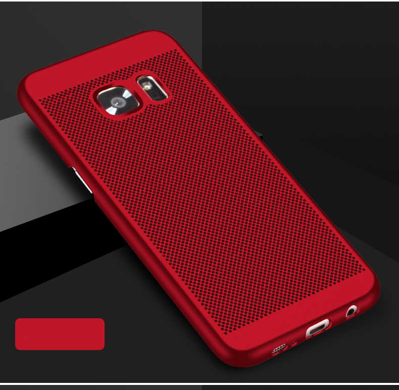 عالية الجودة حقيبة لهاتف سامسونج غالاكسي S8 S 8 Plus S7 S6 حافة زائد غطاء الهاتف المحمول سامسونج البلاستيك الصلب الإسكان الخلفي