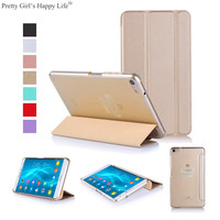 For Huawei MediaPad M2 Lite 7.0 inch Tablet Case Flip Leather Cover For Huawei M2 Lite 7.0'' Clear Back Shell Stand Capa +Stylus