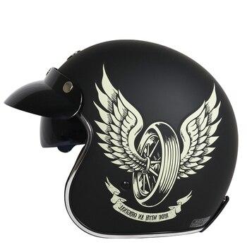 TORC Brand vintage motorcycle helmets open face jet helmet vespa scooter helmet MOTO pilot helmet with sunney visor ECE