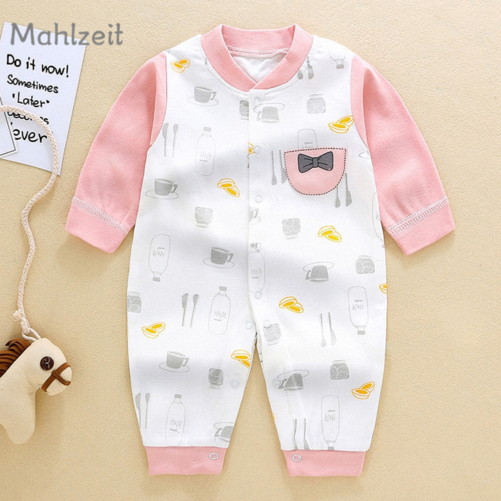 2019 Spring new baby boy girl Romper Kids long sleeve soft underwear baby 100% cotton jumpsuit cartoon one-piece for 1-24M baby