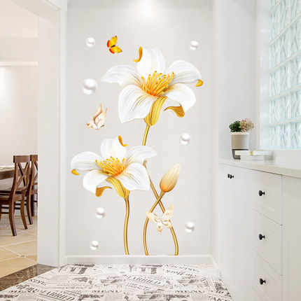 65 105cm Large Flower Bathroom Decoration Wall Sticker Diy Flower 3d Living Room Bedroom Wall Decor Poster Wallstickers