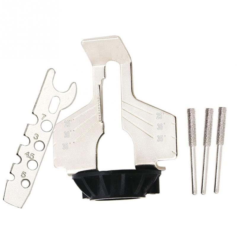 Image 2 - Sharpening Attachment, Chain Saw Tooth Grinding Tools Used with Electric Grinder, Accessories for Sharpening Outdoor Garden Tool-in Abrasive Tools from Tools
