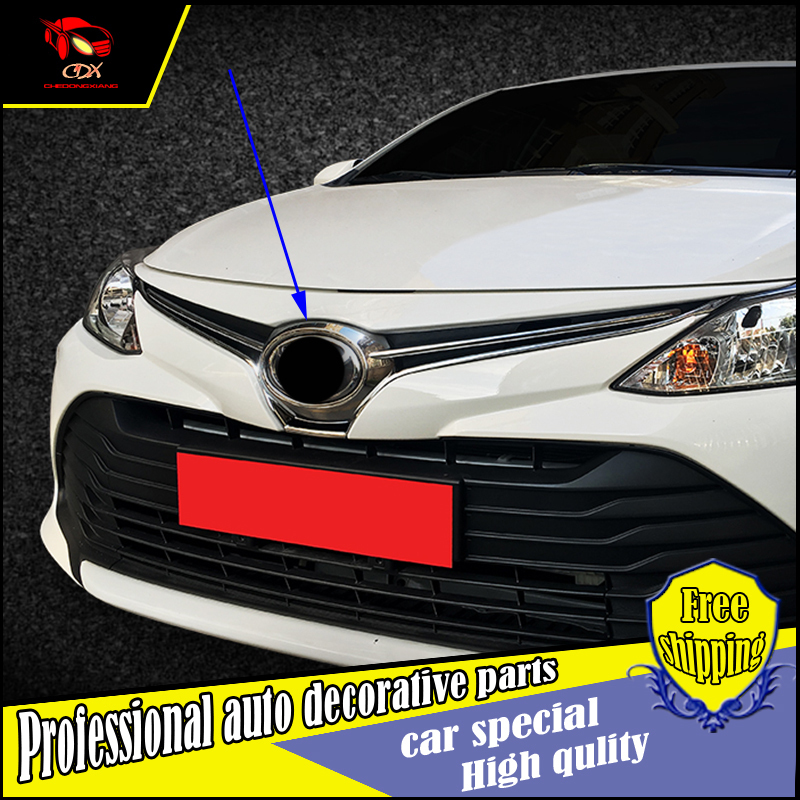 FIT FOR Toyota Vios 2017 CHROME FRONT MESH GRILLE GRILL BUMPER COVER TRIM INSERT BONNET GARNISH MOLDING GUARD PROTECTOR