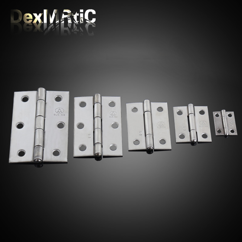 Furniture Hinges 25*19mm, 38*30mm, 50*38mm, 62*42mm, 75*50mm Antique Wooden Gift Box Hinge Stainless Steel Hinge Industrial