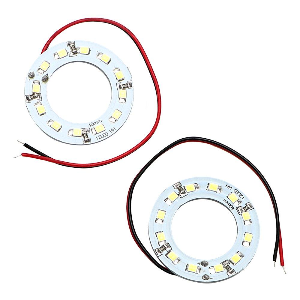 2Pcs/Set Angel Eye LED Daytime Running Light Car Headlight 40MM Car Light 12SMD 1210 3528 Auto DRL Lamp Car-styling DC 12V