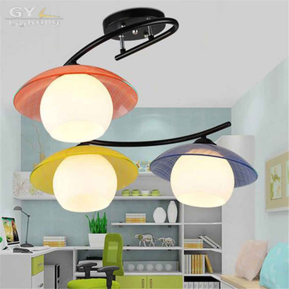 Modern children bedroom ceiling chandeliers Glass art decor LED study room ceiling lamps kid child room lustre light vemma acrylic minimalist modern led ceiling lamps kitchen bathroom bedroom balcony corridor lamp lighting study