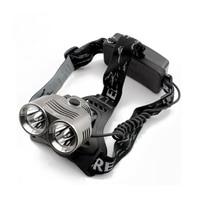 2400lm T6 Light Outdoor Headlamp 2t6 Bead Led 3 Mode Headlight Flashlight Head Camping Fishing Light For 18650 Battery