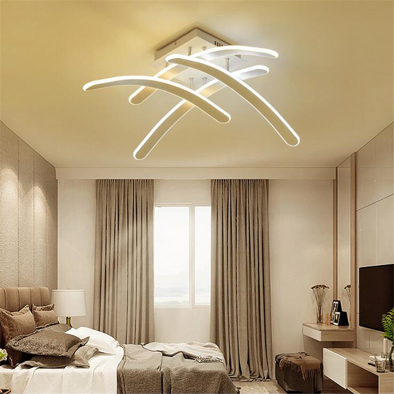 Creative Design Led Ceiling Lights Dimmable Remote Aluminum Plafonnier Commercial Lighting For Living Room Luminaria De Teto led luminaria teto hot sell 1 pcs lot dimmable