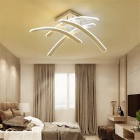 Creative Design Led Ceiling Lights Dimmable Remote Aluminum Plafonnier Commercial Lighting For Living Room Luminaria De Teto