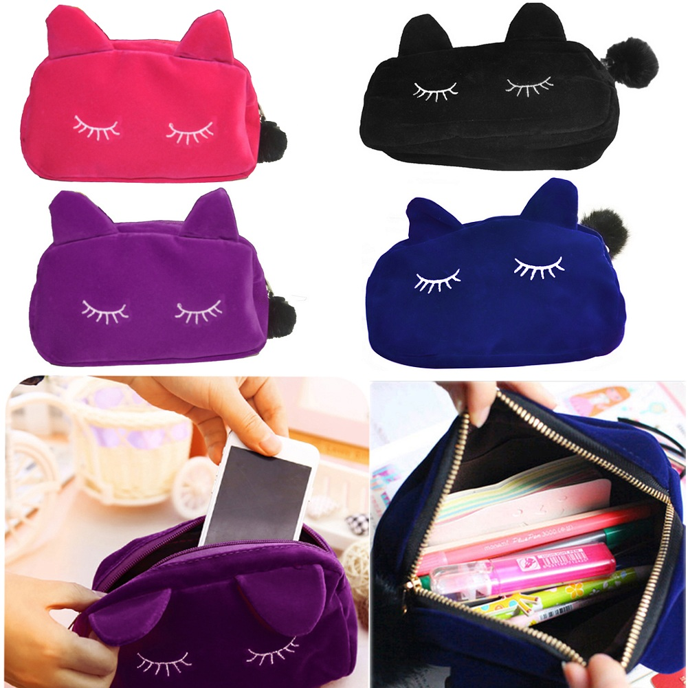 Women Cute Coin Purses Beauty Cosmetic Makeup Bag Case Organizer Zipper Handbag Travel Toiletry