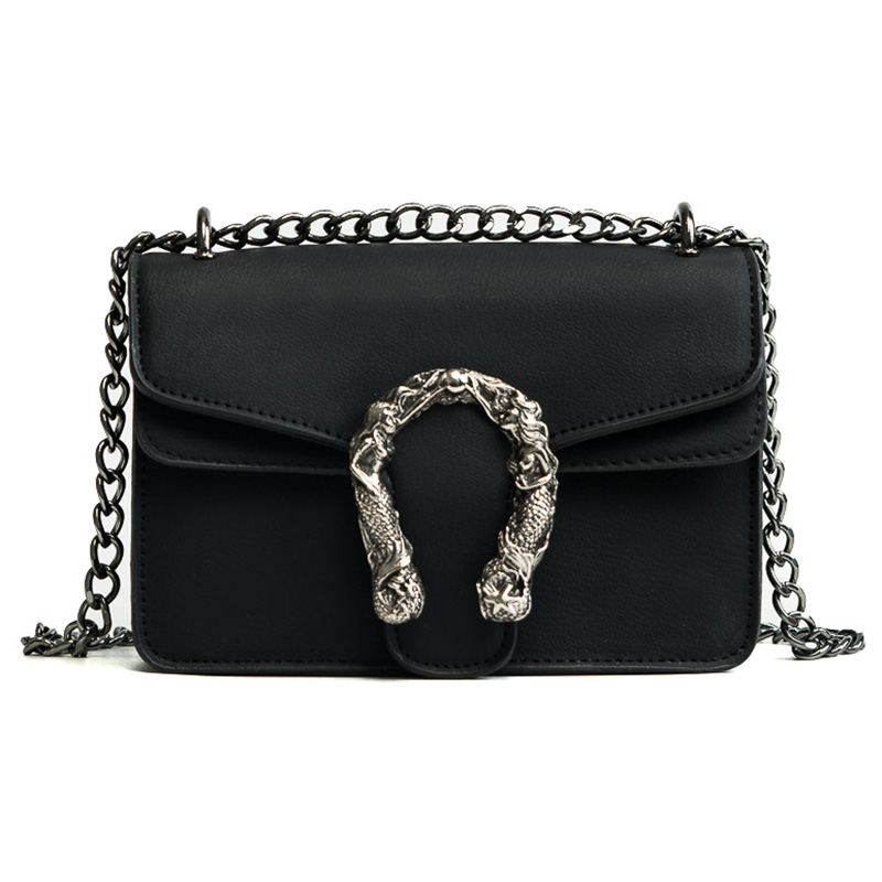 2018 Chains Women Shoulder Bags Small Black Fashion Women Bags Candlelight Leather Small Flap Bags Diagonal Lady Girls Handbags 2