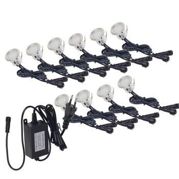 10 stks LED Dek Licht IP67 Waterdichte Rvs Verzonken Trap Ondergrondse Gloeilamp LED Floor Light Muur spotlight DC12V