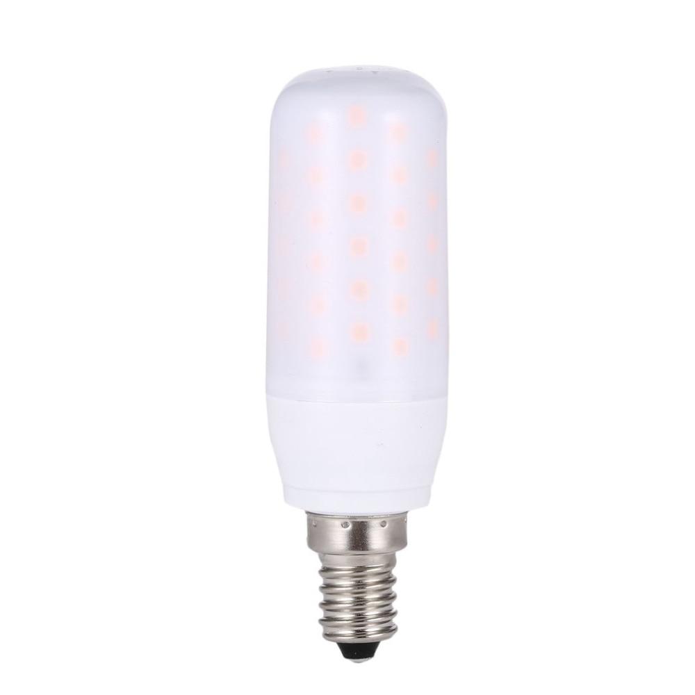 3w E14 Led Flame Bulb Light Flicker Lamp Fire Effect Ac85