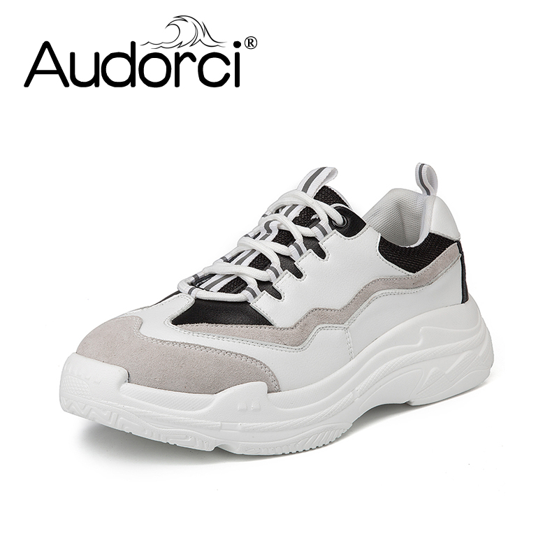 Audorci 2018 Classics Mens Casual Shoes Comfortable Round Toe Lace-up Flat Shoes Man Outdoor Walking Board Shoes Size 38-44