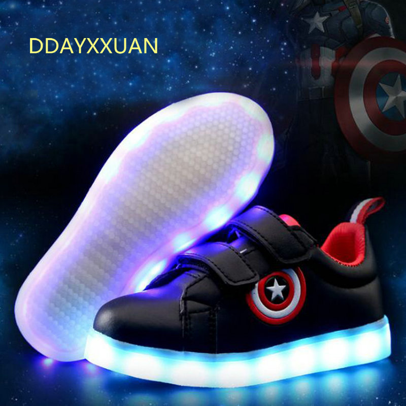 USB charge Led luminous Shoes For Boys girls Fashion Light Up Casual kids 7 Colors new simulation sole Glowing children sneakers new 7 color led glowing sneakers casual kids shoes for boys girls shoes fashion casual light up sneakers with luminous sole