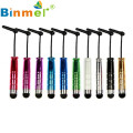 Binmer 1pcs Mini Capacitive Stylus Touch Pen with Jack Dust Cap Pen for Tablet and Smart Phone Goloden