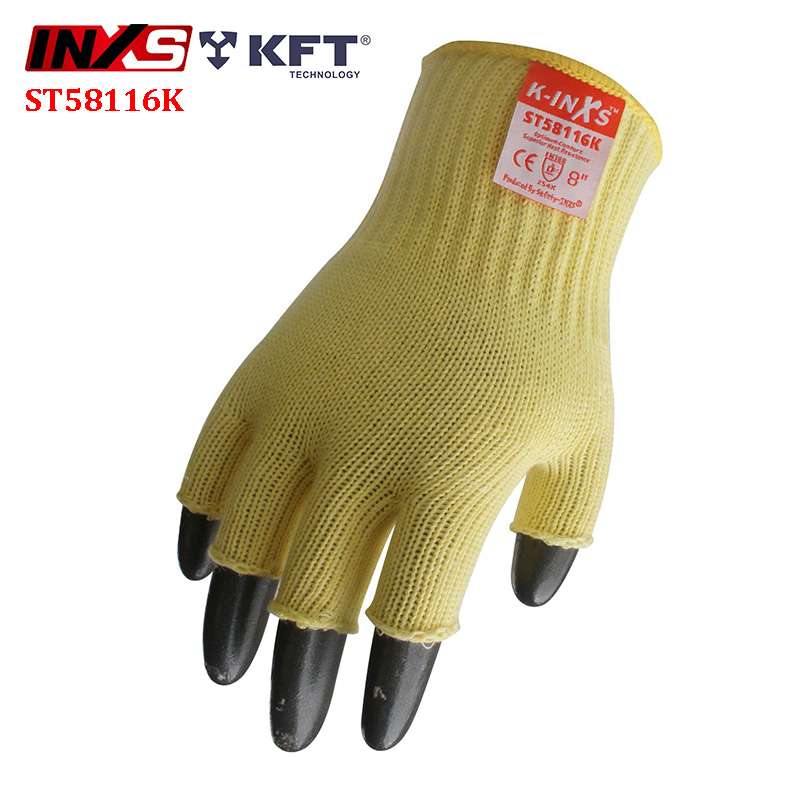 SAFETY-INXS Half finger Anti-cut gloves Fine operation Heat resistant anti cut gloves Breathable Mechanical safety gloves gigabyte gigabyte radeon r7 240 2048мб ddr3