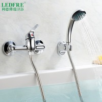 LF56A130 single level Bath mixer water tap bathroom single handle cold and hot water hot cold tap bathroom mixer Bathtub Faucets
