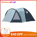 KingCamp Wochenende Serie Tragbare Durable Wasserdicht Atmungsaktiv 3 Person Familie Camping Kuppel Zelt mit Screen zimmer
