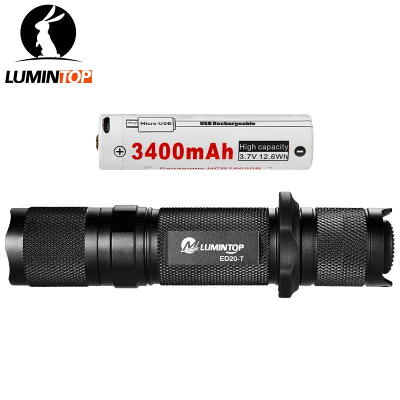 Lanternas e Lanternas lumintop tático edc lanterna ed20-t Modelo de Contas Led : Cree Xm-l2 u2 Led