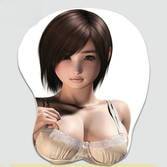 2015 New Final Fantasy Cartoon Sexy Girl Chest Mousepad -9215