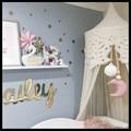 Рождество Подарок На День Рождения Милые детская комната луна стене Висит деревянный Декор Ремесла Детская Комната Палатка Висячие Украшения