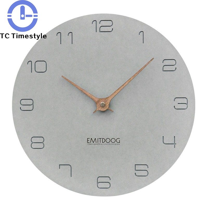 Wall Clock Wooden Modern Simple Living Room Home Decoration Accessories Fashion Watch Nordic Minimalist Creative Silent