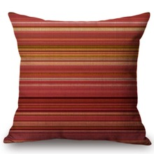 Funda decorativa a rayas de estilo nórdico Vintage bohemio para sofá o silla funda para cojín de asiento Líneas geométricas a cuadros funda de cojín de lujo de lino y algodón