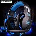 Each g2000 gaming headset headband 3.5mm display led luz porta fone de ouvido estéreo fone de ouvido com microfone para o jogo de pc