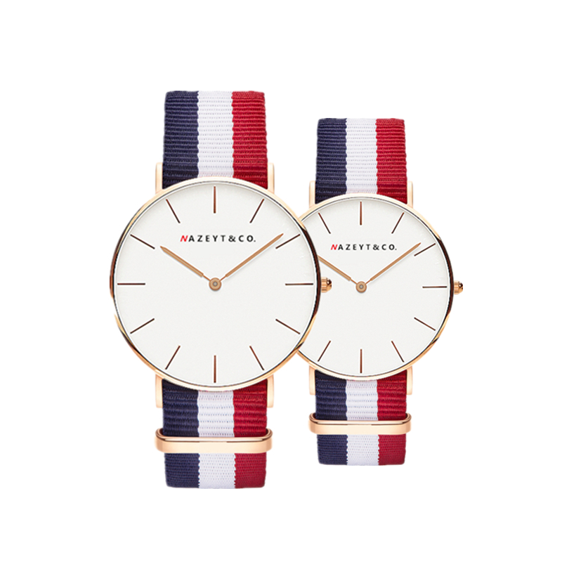 fashion lovers Bauhaus top brand casual simple design couple watch best gift for students Multi-color Stripe DW style Watch