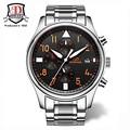Top Brand BINKADA High Quality Mens Watches Luxury 2017 sapphire luminous Automatic watches 3 Eyes mechanical Watch Clock