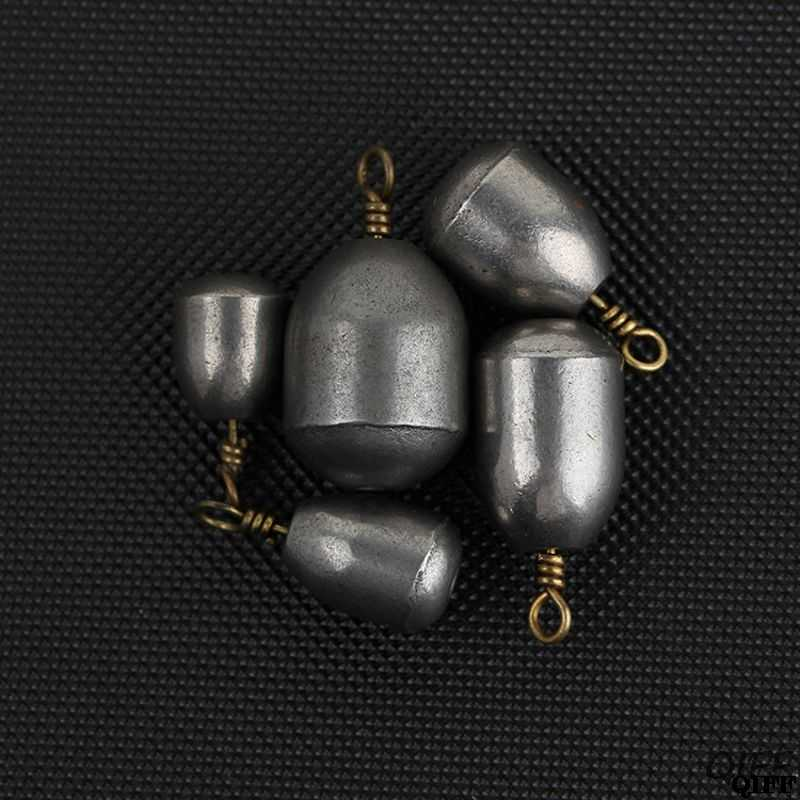 5 pçs/set em forma de coração oval pesca gota de chumbo plummet 4/7/10/14/20g mar gota prumo bob pesca engrenagem