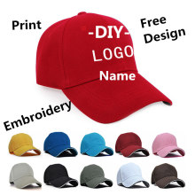 Factory Price!1Pcs Free Logo Custom Baseball Cap Text Photo Print Men Women Snap