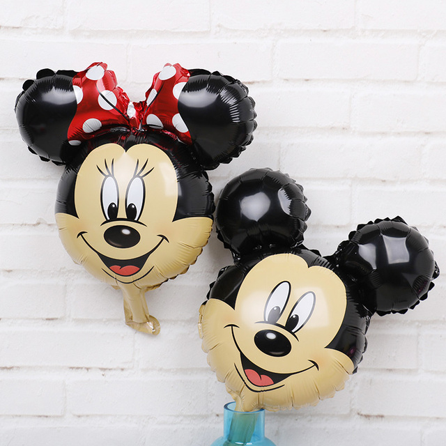 10pc Mini Mickey Mouse Birthday Decorations Foil Balloons Disney Cartoon Air Baloes Minnie Baby Shower
