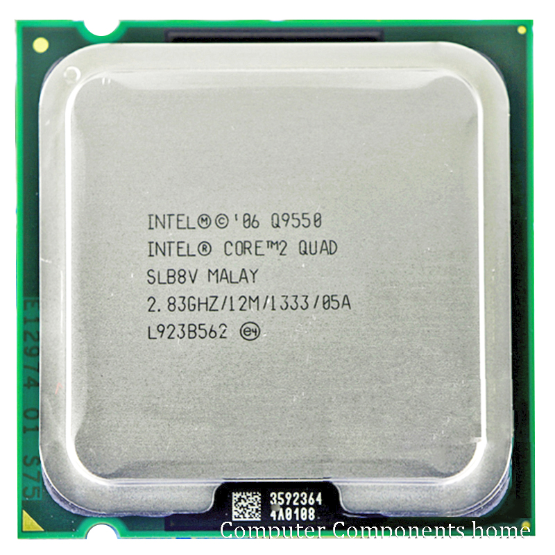 INTEL INTEL core 2 Q9550 quad Q9550 Socket LGA 775 CPU Processador (2.83 Ghz/12 M/1333 GHz) CPU de Desktop frete grátis