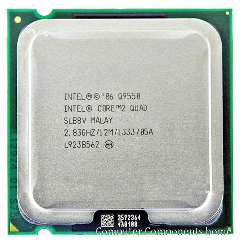 INTEL Q9550 INTEL core 2 quad Q9550 CPU Processeur (2.83 Ghz/12 M/1333 GHz) Prise 775 Bureau CPU livraison gratuite